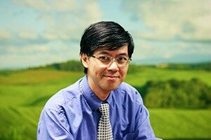 Edward Wong in The Farm meeting room