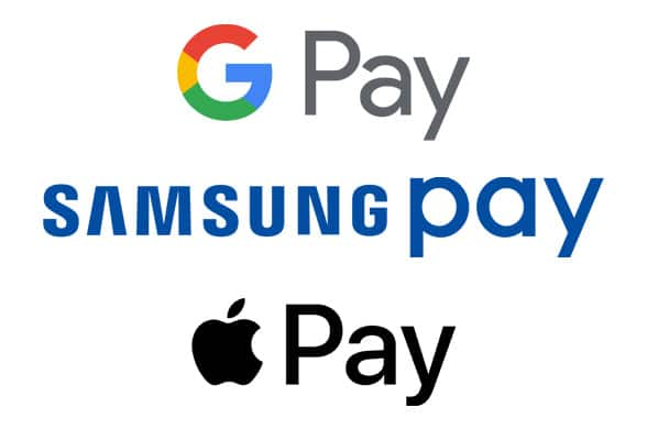 Google pay apple pay and samsung pay
