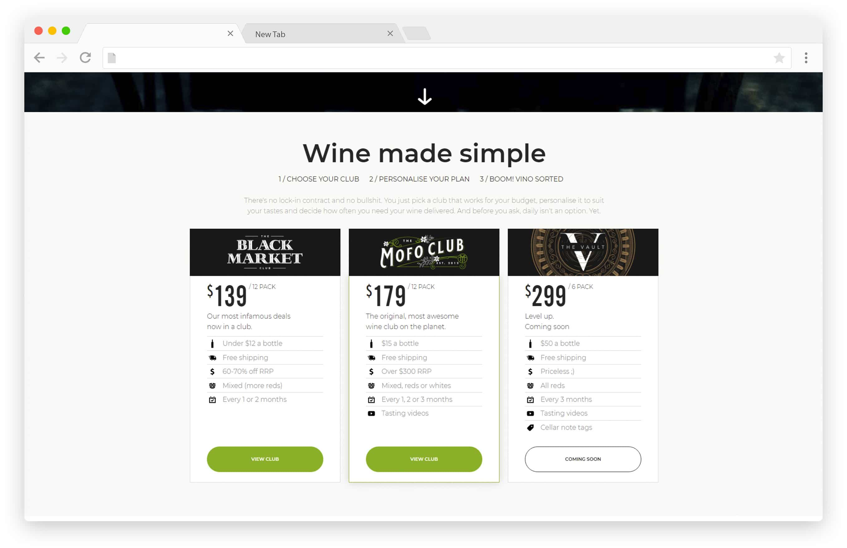 Vinomofo Subscription Service