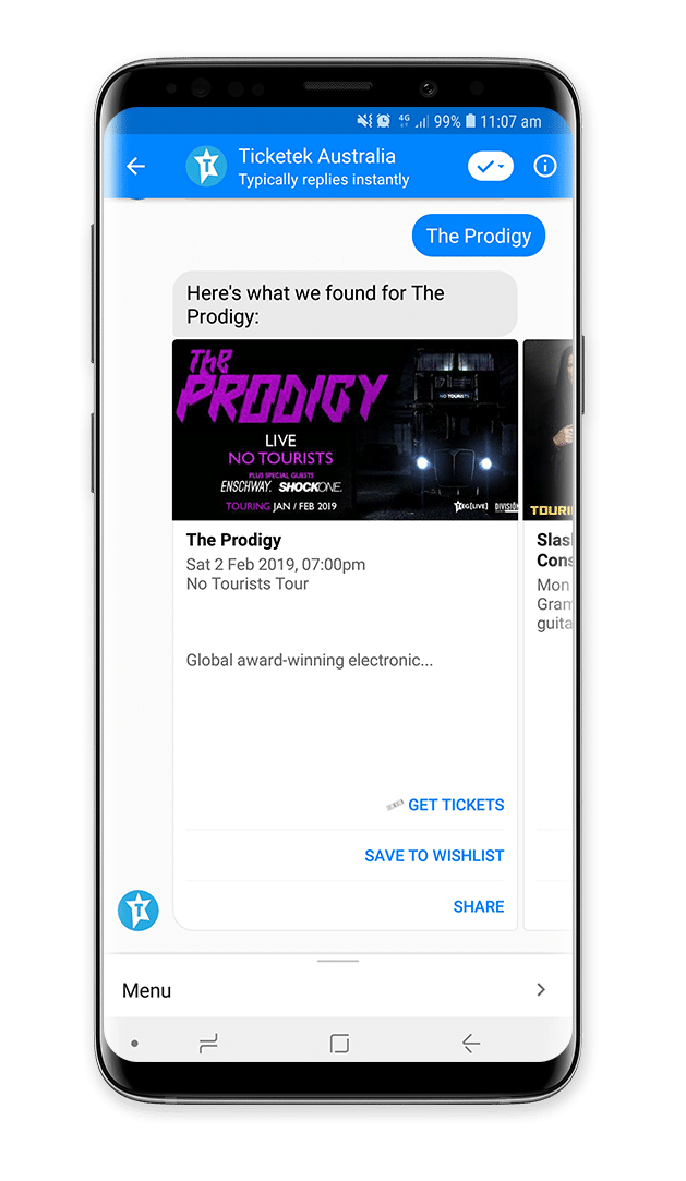 Ticketek Chatbot