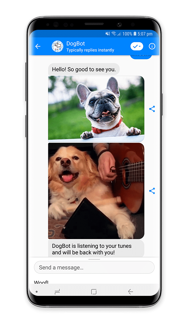 DogBot chatbot by ManyChat