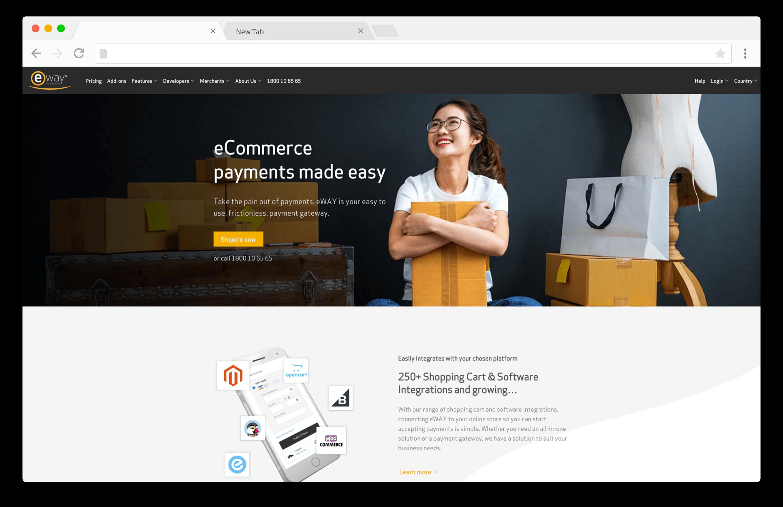 screenshot of eway payment gateway