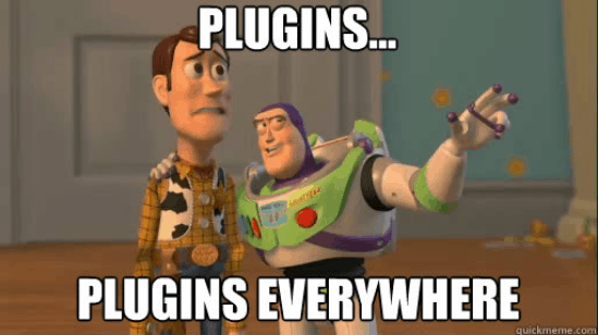 Too many Plugins for WordPress Website Optimization.
