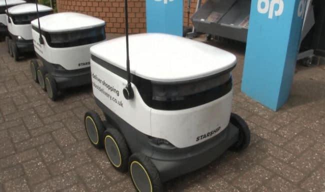 Digital innovation sees robots to deliver groceries