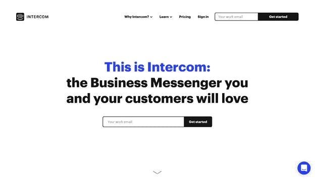 Intercom - simple web design