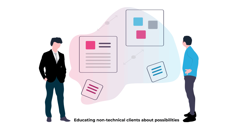 Educating non-technical clients about digital acceleration possibilities