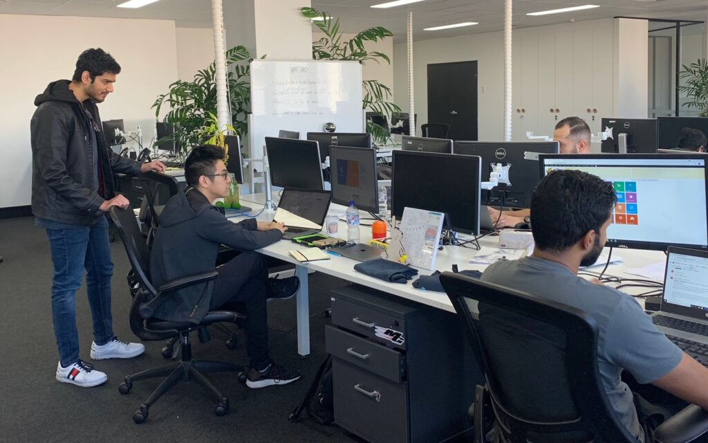 Web developer contractor Ajay working with delivery team